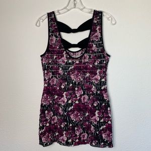 Studio Y -Ruffle layered tank top with bowtie back